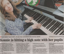 Newspaper Article about Konnie. Click to make bigger